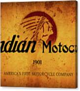 Indian Motocycle 1901 - America's First Motorcycle Company Canvas Print