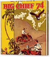 Indian Motorcycle Big Chief 74 Canvas Print