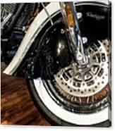 Indian Motorcycle Wheel Canvas Print