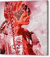 Indian Red Canvas Print