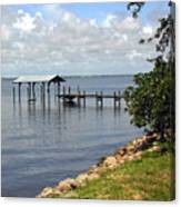 Indian River In Indialantic Florida Canvas Print