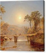 Indian Summer On The Delaware River Canvas Print