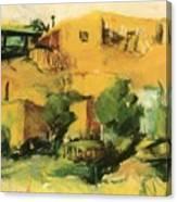 Indian Village 1917 Canvas Print