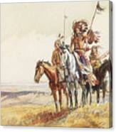 Indian War Party Canvas Print