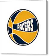 Indiana Pacers Retro Shirt Canvas Print