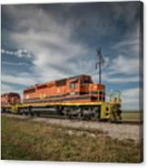 Indiana Southern Railroad Locomotives At Edwardsport Indina Canvas Print