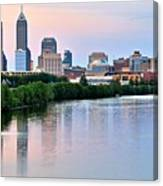 Indianapolis At Dusk Canvas Print