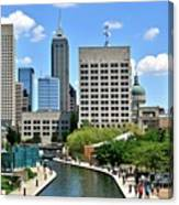 Indianapolis Canal Canvas Print