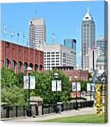 Indianapolis From The Park Canvas Print