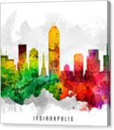 Indianapolis Indiana Cityscape 12 Canvas Print
