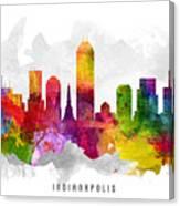 Indianapolis Indiana Cityscape 13 Canvas Print