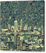 Indianapolis Skyline Abstract 3 Canvas Print