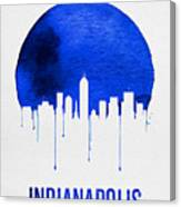 Indianapolis Skyline Blue Canvas Print