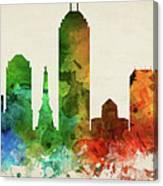 Indianapolis Skyline Panorama Usinin-pa03 Canvas Print