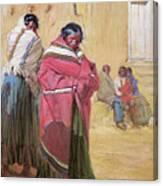 Indians Outside Taos Pueble Canvas Print