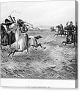 Indians/u.s. Military, 1876 Canvas Print