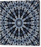Indigo Flow Blue Kaleidoscope Canvas Print