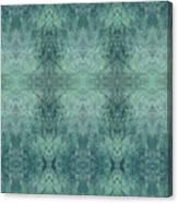 Indigo Lotus Lace Pattern 1 Canvas Print