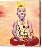Indigo Melanin Canvas Print
