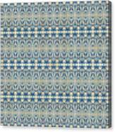 Indigo Ocean - Caribbean Tile Inspired Watercolor Swirl Pattern Canvas Print