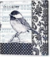 Indigo Vintage Songbird 2 Canvas Print