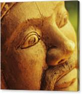 Indonesian Wood Carving Canvas Print