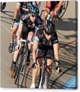 Indoor Bike Race Canvas Print
