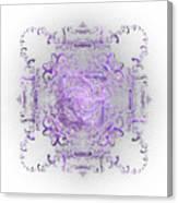 Indulgent Purple Lace Canvas Print