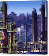 Industrial Archeology Refinery Plant 08 Canvas Print