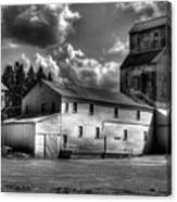 Industrial Landscape In Black And White 1 Canvas Print