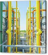 Industrial Piping Canvas Print