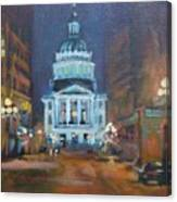 Indy Government Night Canvas Print