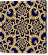 Infinite Lily In Navy Canvas Print