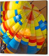 Inflating The Balloon Canvas Print