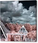 Infrared Glass Pyramids Panorama Canvas Print