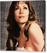 Ingrid Pitt, Vintage Actress Canvas Print