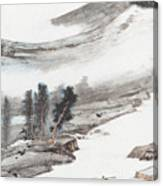 Ink And Wash Pine Canvas Print