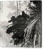 Ink Lotus Canvas Print