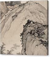 Ink Painting Landscape House Canvas Print