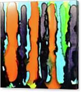 Ink Stripes Canvas Print
