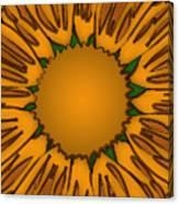 Ink Sunflower Canvas Print
