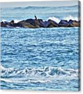 Inlet Waves Canvas Print