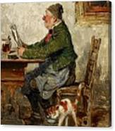 Innkeeper With A Cat Canvas Print