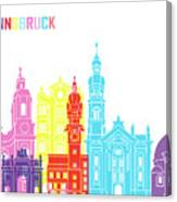 Innsbruck Skyline Pop Canvas Print