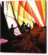 Inside A Hot Air Balloon Canvas Print