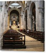 Inside Beautiful Church In Rome Canvas Print