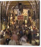Inside Istanbuls Grand Bazaar Canvas Print
