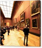 Inside Louvre Museum  Canvas Print