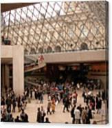 Inside Louvre Museum Pyramid Canvas Print