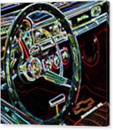 Inside Of A Classic Car Canvas Print